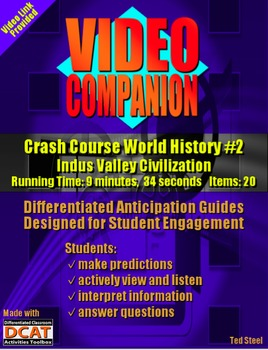 Video Companion: Crash Course World History #2, Indus Valley Civilization
