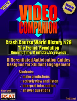 Video Companion: Crash Course World History #29, The French Revolution