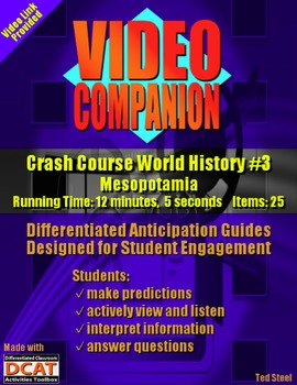 Video Companion: Crash Course World History #3, Mesopotamia