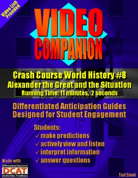 Video Companion: Crash Course World History #8, Alexander the Great