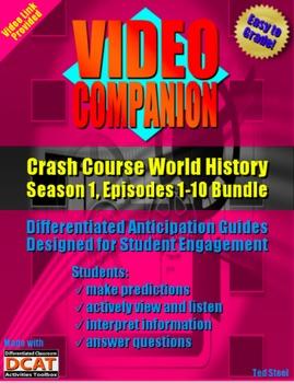 Video Companion: Crash Course World History, Season 1, Episodes 1-10 Bundle