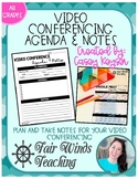 Video Conferencing Agenda & Notes (Google Meet, Zoom, Blue