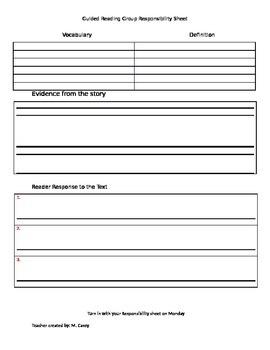 Video Evidence Writing Sheet