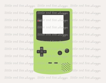 Video Game Clipart; Gameboy, Console
