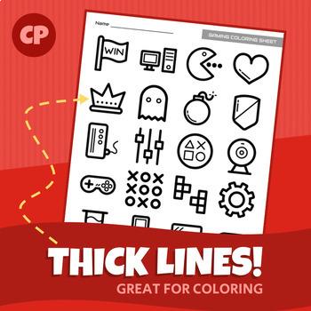 Video Game Coloring Sheet | Printable PDF