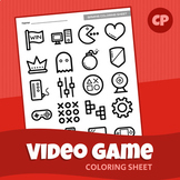 Video Game Coloring Sheet | Printable PDF