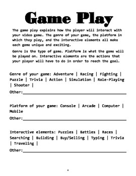 Video Game Design Packet