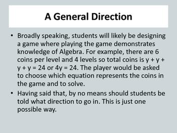 Video Game Design using Sploder: Math: Design a game incorporating Algebra