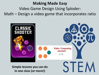 Video Game Design using Sploder: Math - Design a game that