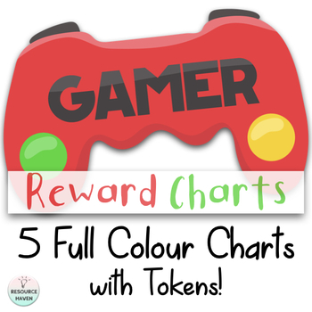 Video Game 'Gamer' Themed Reward Charts