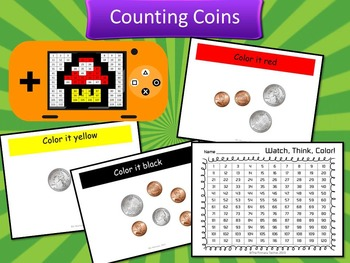 Video Game Inspired Bundle #2 Watch, Think, Color Games - EXPANDING BUNDLE