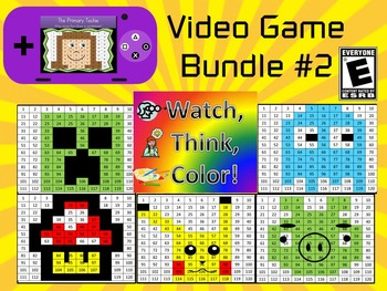 Video Game Inspired Bundle #2 Watch, Think, Color Games -