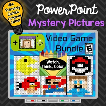 Video Game Inspired Bundle Watch, Think, Color Games - EXP