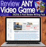 Review ANY video game (DISTANCE LEARNING supported)