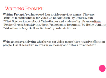 games for teaching essay writing