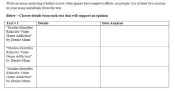 Video Game Effects Essay