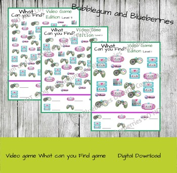 Video Game What Can you Find game- seek and find