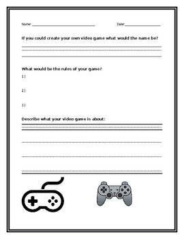 Video Game Writing Prompt
