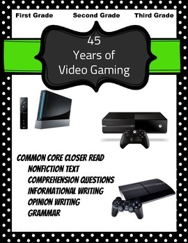 Video Games: Nonfiction Text, Comprehension Questions, Grammar, Writing