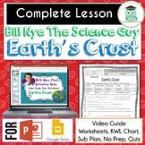 FREE Video Guide, Worksheet for Bill Nye - Earth's Crust