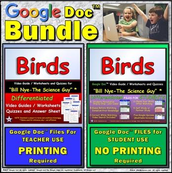 Video Guide, Quiz for Bill Nye – Birds * Value BUNDLE