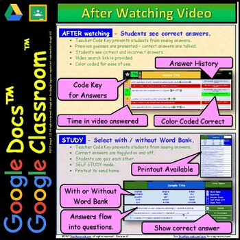 Video Guide, Quiz for Bill Nye – Digestion * Google Doc™ for Student