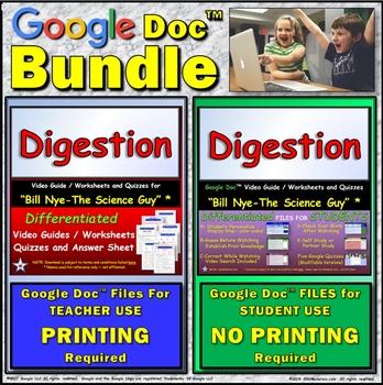 Video Guide, Quiz for Bill Nye – Digestion * Value BUNDLE