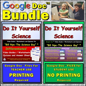 Video Guide, Quiz for Bill Nye – Do It Yourself Science * Value BUNDLE