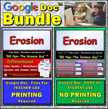Video Guide, Quiz for Bill Nye – Erosion * Value BUNDLE