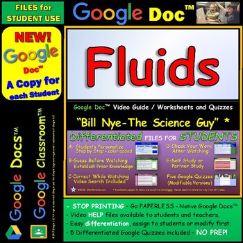 Video Guide, Quiz for Bill Nye – Fluids * Google Doc™ for Student