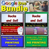Video Guide, Quiz for Bill Nye – Rocks and Soil * Distance Learning BUNDLE