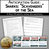 [Remote Friendly] Video Anticipation Guide Sharks: Scavengers of the Sea w/Keys
