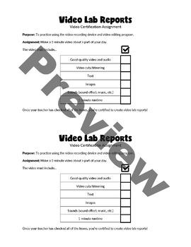 Video Lab Report Framework