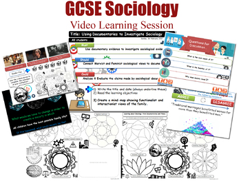 Video Learning Session - The Sociology of Family (GCSE Sociology L20/20)