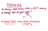 Video Lesson for Factoring Polynomials