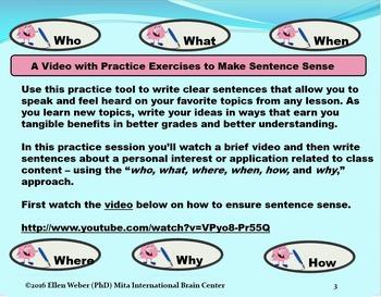 Video Lesson on Sentence Sense