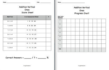 Video Math Facts Flash Cards - 0 to 5   (Addition) (Vertical Format)