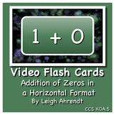 Video Math Facts Flash Cards - Zeros (Addition)