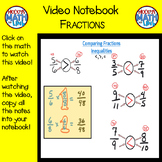 Video Notebook: Fractions (Distance Learning)