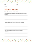 Video Notes - General Template PDF