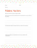 Video Notes - General Template PNG