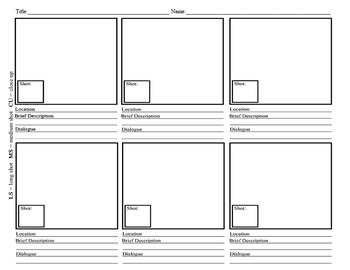 Video Project Story Board