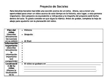 Video Proyecto para Estudios Sociales