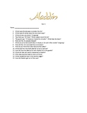 Video Questions for Aladdin part 1