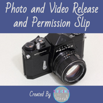 Photo and Video Release Permission Slip Freebie