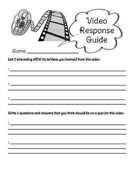 Video Response Guide (Generic--Works with Any Video)