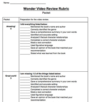 Video Review Project: Wonder