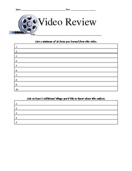 Video Review for Students