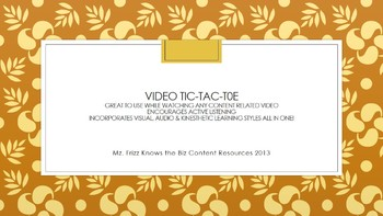 Video Tic-Tac-Toe