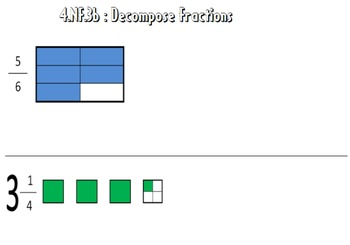 Video Tutorial: Common Core Math Standard 4.NF.3b (Decompose Fractions)